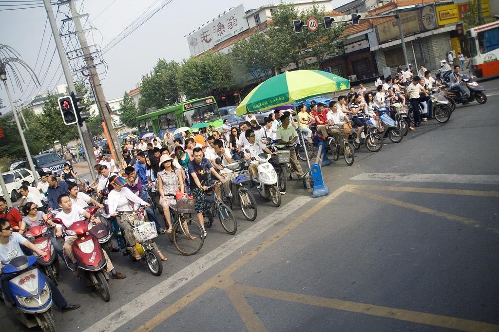 Elektroroller in Shanghai